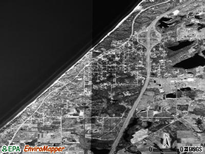 Lake Michigan Beach satellite photo by USGS