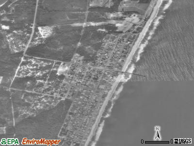 Kure Beach satellite photo by USGS