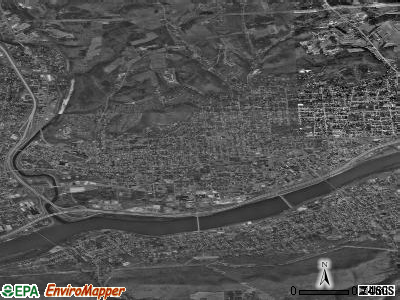 Williamsport satellite photo by USGS