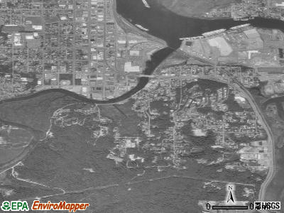 Bunker Hill satellite photo by USGS