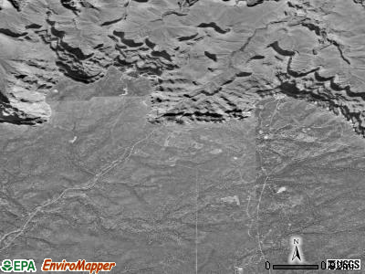Grand Canyon Village satellite photo by USGS