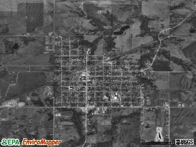 Wetumka satellite photo by USGS