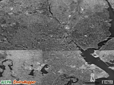 Providence satellite photo by USGS