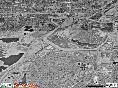 Irwindale satellite photo by USGS
