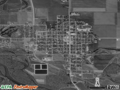 Clarksville satellite photo by USGS