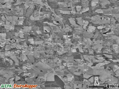 Crossville satellite photo by USGS