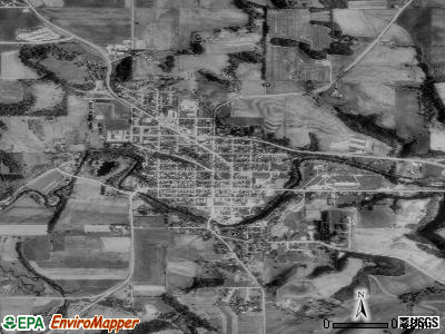 Preston satellite photo by USGS