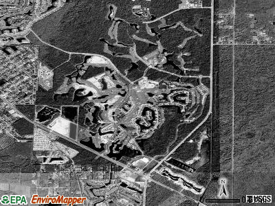 Lely Resort satellite photo by USGS
