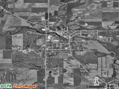 Mishicot satellite photo by USGS