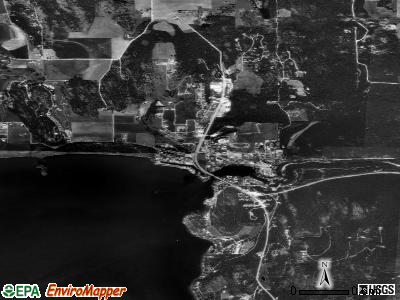 Bigfork satellite photo by USGS