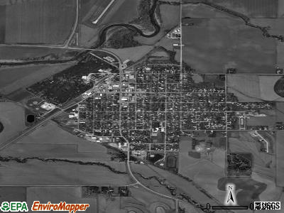 Mapleton satellite photo by USGS
