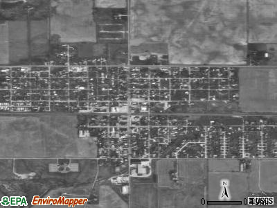 Parker City satellite photo by USGS