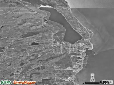 Greilickville satellite photo by USGS
