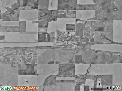 Strasburg satellite photo by USGS