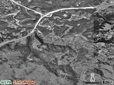 Beaver satellite photo by USGS