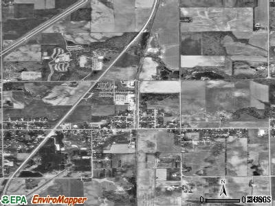Cleveland satellite photo by USGS