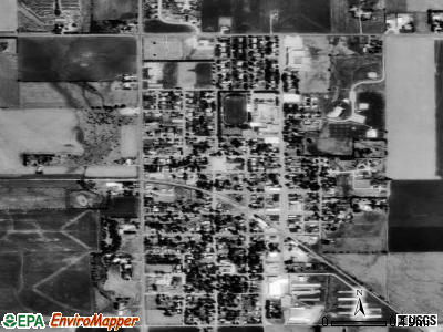 Buhler satellite photo by USGS