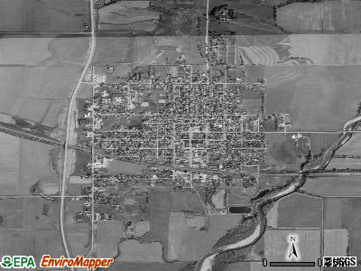 Villisca satellite photo by USGS