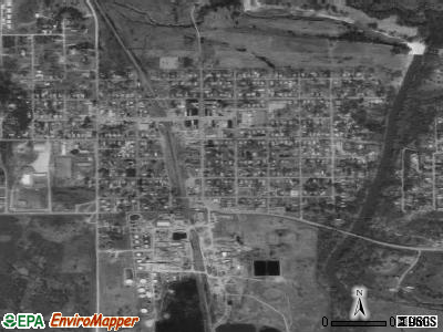Barnsdall satellite photo by USGS