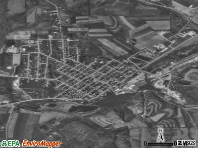 South Carthage satellite photo by USGS