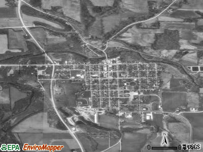 Fayette satellite photo by USGS