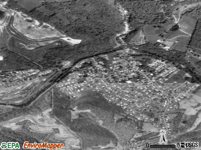 Barrackville satellite photo by USGS