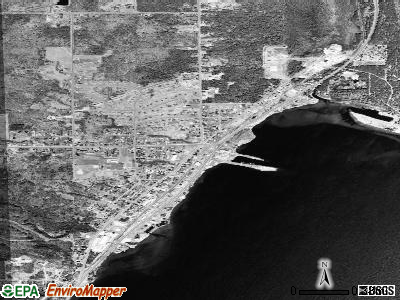 Baraga satellite photo by USGS