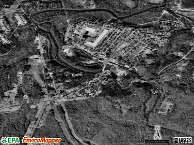 Porterdale satellite photo by USGS
