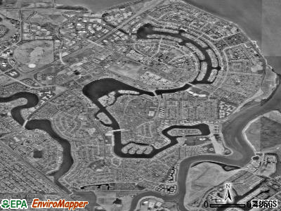Foster City satellite photo by USGS
