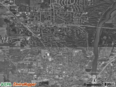 West Lafayette satellite photo by USGS