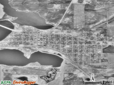 Elbow Lake satellite photo by USGS