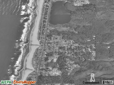 Rockaway Beach satellite photo by USGS