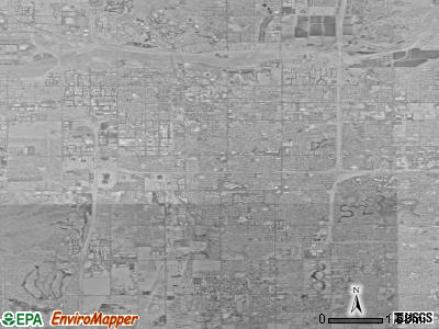 Tempe satellite photo by USGS