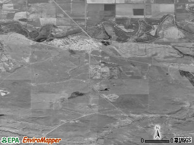Fort Belknap Agency satellite photo by USGS