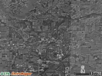 Noblesville satellite photo by USGS