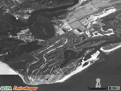 Seabrook Island satellite photo by USGS