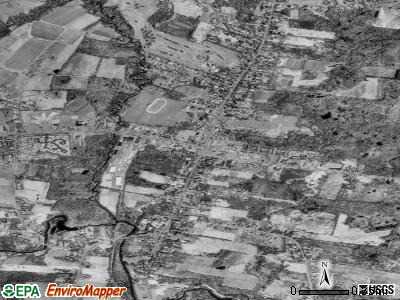 Suffield Depot satellite photo by USGS