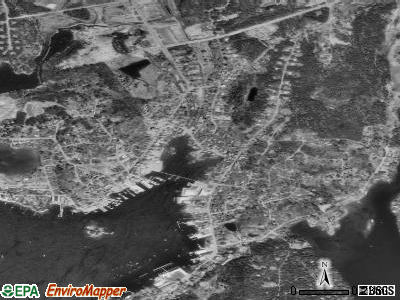 Boothbay Harbor satellite photo by USGS