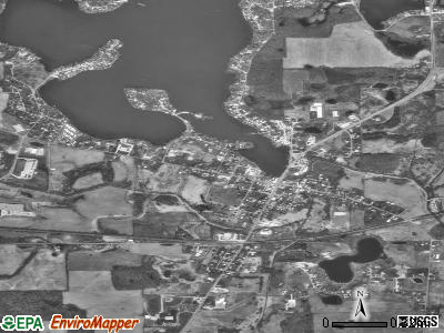 Hamilton satellite photo by USGS