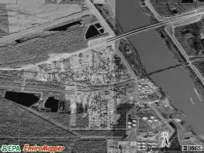 Krotz Springs satellite photo by USGS