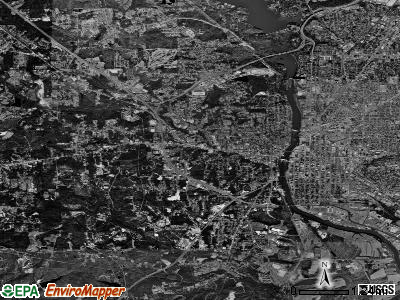 Phenix City satellite photo by USGS