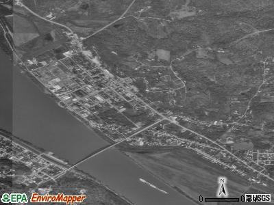 Cannelton satellite photo by USGS