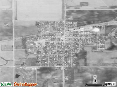Woodward satellite photo by USGS