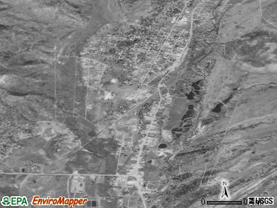 Chama satellite photo by USGS