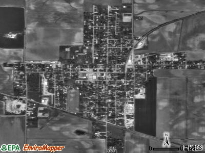 Poseyville satellite photo by USGS