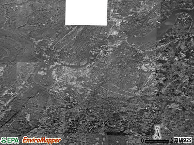 Chattanooga satellite photo by USGS