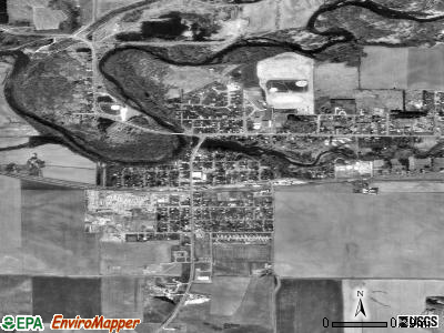 Colfax satellite photo by USGS