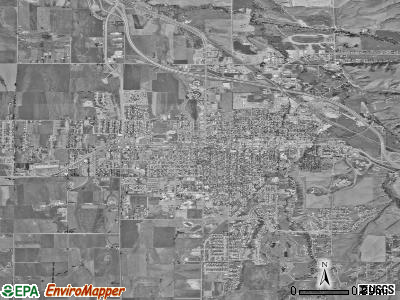 Bozeman satellite photo by USGS