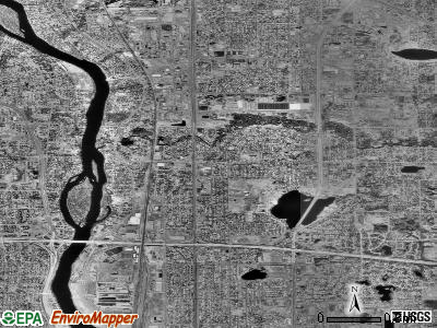 Fridley satellite photo by USGS