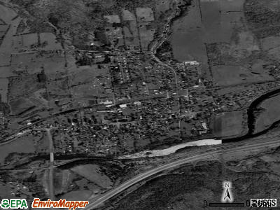 Unadilla satellite photo by USGS